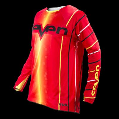 SEVEN 14.1 RIVAL JERSEY VERT RED- YELLOW.