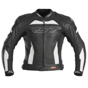 RST PRO SERIES CPXC LEATHER JACKET BLK/WHT SIZE 56