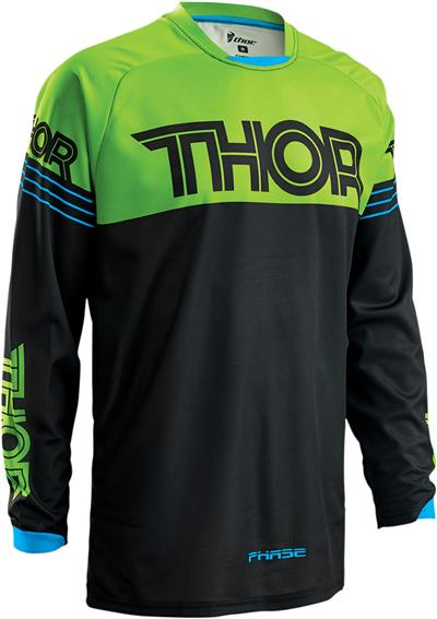 THOR JERSEY S16 PHASE HYPERION GREEN