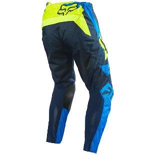 FOX 180 RACE BLUE/YELLOW PANT