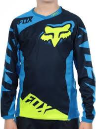FOX 180 RACE JSY BLU/YLLW YTH SM