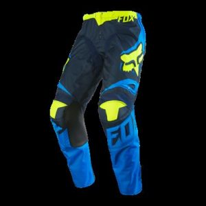 FOX 180 RACE PANT BLUE/YELLOW YOUTH
