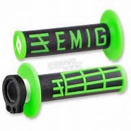 ODI MX LOCK ON V2 EMIG FLURO GRN 4 STROKE