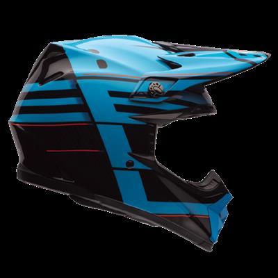 BELL MOTO 9 FLEX BLOCKED BLUE