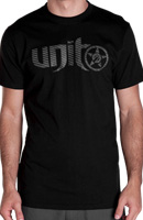 UNIT MENS CARBON TEE BLACK LARGE