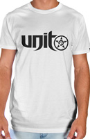 UNIT MENS CARBON TEE WHITE LARGE
